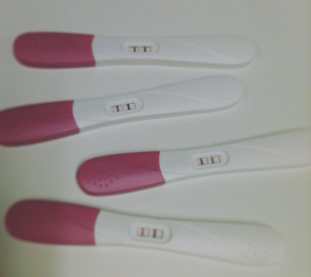 sent positivt graviditetstest